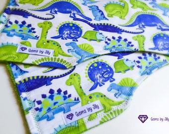 Baby Burp Cloths - Dinosaur Set of 2