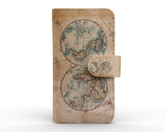 iphone 7 wallet detachable leather wallet for apple iphone 5 5s 5c 6 6s plus retro vintage world map