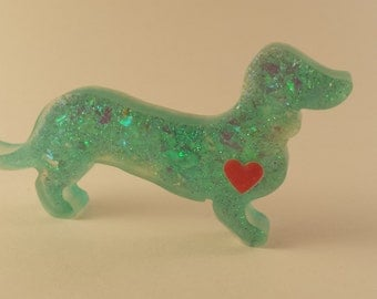 Resin Doxie Magnet