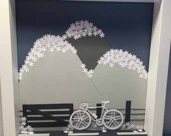 Winter Bike Ride paper art