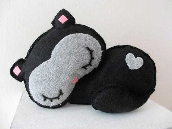 Gatto nero di pannolenci gatto che dorme kawaii gatto for Gatti in pannolenci