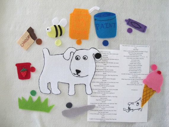 dog stories for preschoolers s colorful day felt story set teaching resource 717