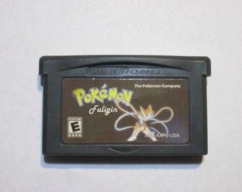 GBA Pokemon Fuligin fan made game cartridge Gameboy Advance hack