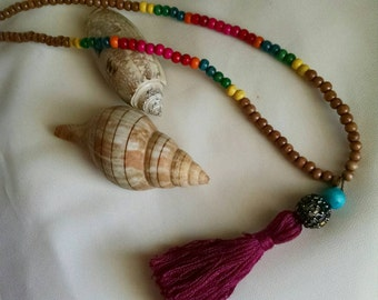 Boho Necklace with Tassel