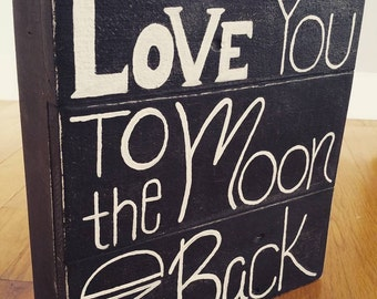Love You Reclaimed Wood Sign