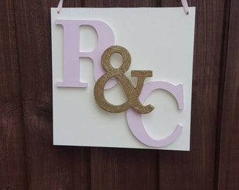 Painted plaques for wedding keepsake.