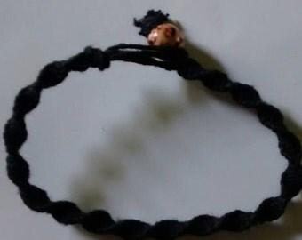 Black hemp bracelet