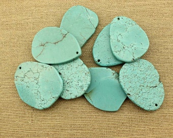Natural turquoise pendant, turquoise slab, turquoise beads, gemstone, loose beads, beads in bulk, one pcs for a listing, wholesale, TD 062