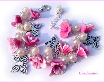 Flower bracelet rose