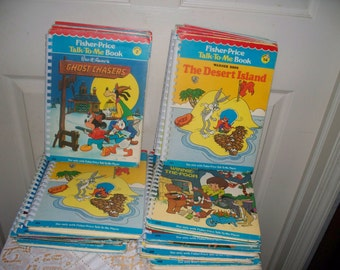 Vintage Fisher Price Talk to Me Books - 2 Players - 19 Books - Players Do Not Work - Parts Only