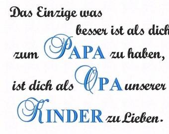 Stick File/saying * Papa Grandpa Kids... *