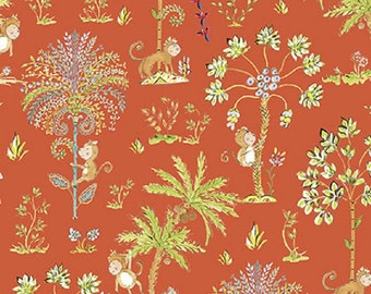 "Dena Designs FreeSpirit ""Sundara Oasis""  Lalika Red  Cotton Fabric  FAT QUARTER"