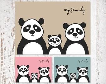 Children's Panda Print (one child)
