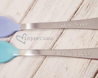 Personalized baby spoons