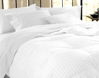 200TC Satin Stripe Duvet Set 100% Egyptian Cotton