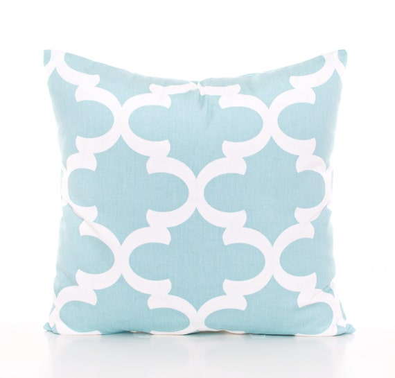 Trellis Pillow Cover Baby Blue Throw Pillow Blue Nursery