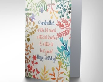 Card Birthday Happy Grandmother Granny Best Friend Gift CP2696