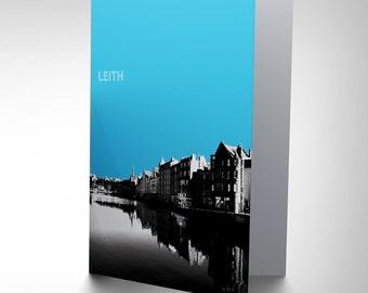 Leith Card - Photo Landmark Shore Edinburgh Scotland Blank Greetings Card CP131