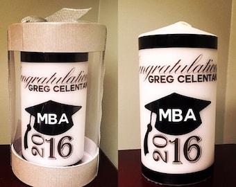 Graduation Gift, Custom Candles