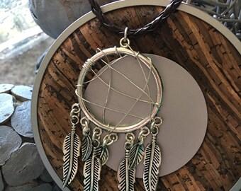 Dreamcatcher necklace.