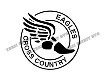 Eagles Cross Country Download File - SVG, DXF, EPS, Silhouette Studio, Vinyl Cutting Files, Digital Cut Files -Use with Cricut, Silhouette