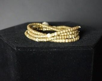 Gold Morrocan Beaded Necklace/Bracelet