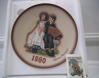 "1980 Norman Rockwell Second Limited Edition ""Lovers"" Plate"