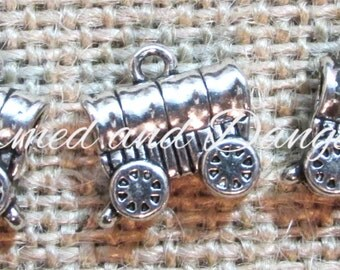 10 pewter Covered Wagon charms (CM29)
