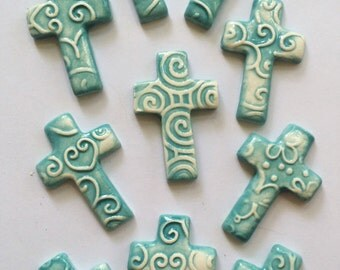 10 Super Cute Ceramic Crosses That Can Be Used In Mosaic And Other Mixed Media Projects