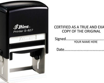 """Self Inking """"Certified As True Copy"""" Stamp 60x40mm approx. (Available in 3 Colours)"""