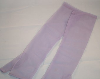Vintage Sheer Lilac Fingerless Evening Gloves, Retro, 1950s, 1960s