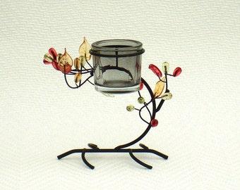 Vintage candlestick black metal candle holder bonsai tree candlestick holder vintage mantle décor black candle stick table décor candlelight
