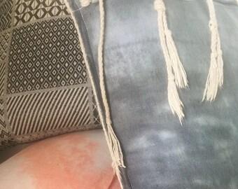 Hemp cushion with Rope tassel detail