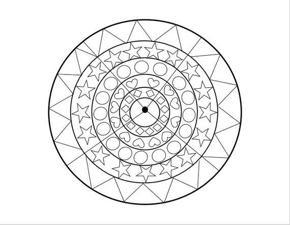 Circle And Shapes Coloring Page Printable