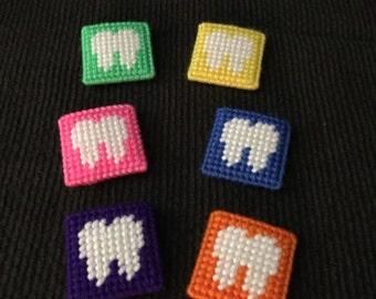 Handmade Plastic Canvas Mini Tooth Pillows-Tooth Fairy