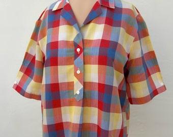 1980's plaid Koret shirt