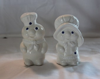Mr. and Mrs. Pillsbury Dough Boy Salt and Pepper Shakers