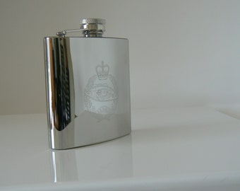 Royal Tank Regiment stainless steel Hip Flask