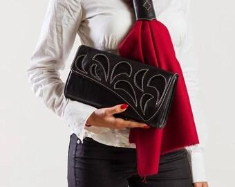 Stalish Ladies Leather Clutch designed by DD BESPOKE STUDIO