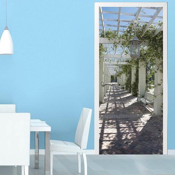 porte mur autocollant terrasse autocollant sticker poster. Black Bedroom Furniture Sets. Home Design Ideas