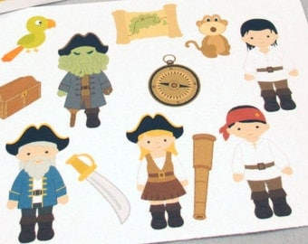 Pirates of the Caribbean Character Stickers