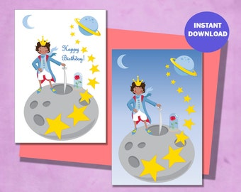 Card Set - The Little Prince - Black Hair