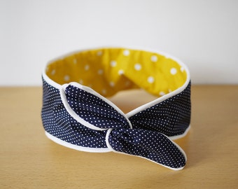 Reversible headband - Yellow submarine Liam