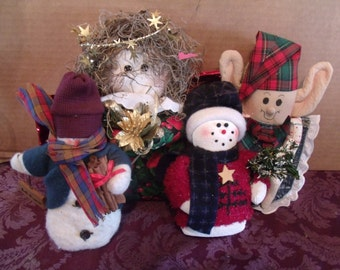 Set of four piece Christmas Decor, (# 5/1)