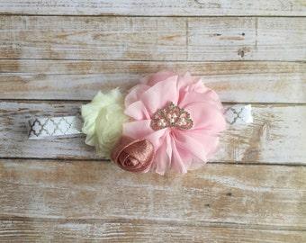 Pink Baby Headband/Birthday Headband/Baby Headband/Infant Headband/Baby Girl Headband/Toddler Headband/Children's Headband/Newborn Headband