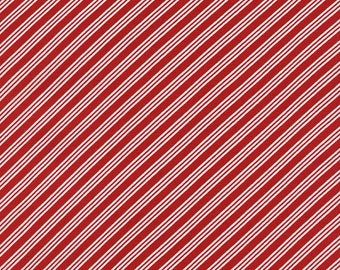 Red and White Bias Stripe from Timeless Treasures