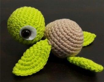 Little Sea Turtle pattern. Instant download