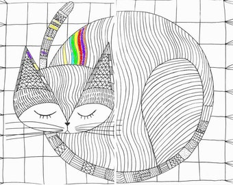 Big Cat printable coloring pages