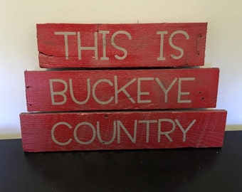 This is Buckeye Country - Any sports team - Rustic wood sign