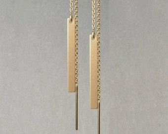 Earrings pendant 14 k Yellow Gold *.